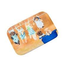 Venta caliente Nuevo Diseño Perro Puerta Alfombras de Baño de Espuma de Memoria Absorbente antideslizante Estera Vendedora Superior de Alta Calidad Del Hogar traje de baño Pad
