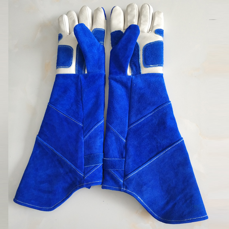 53 cm de long gants en cuir Anti-morsure tactique Animal formation chien chat serpent morsure anti-rayures formation de protection gants d'alimentation
