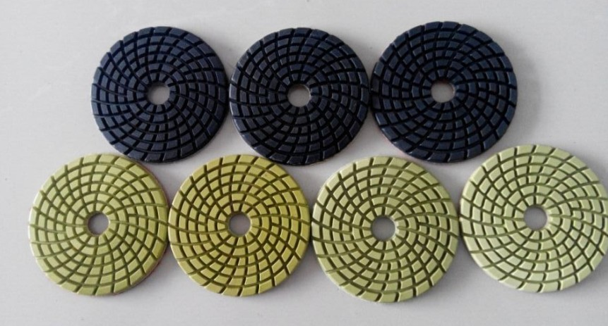Super Thick And Cheap 4 Inch 100mm Diamond Polishing Pads Wet/Dry Set For Granite Concrete Marble