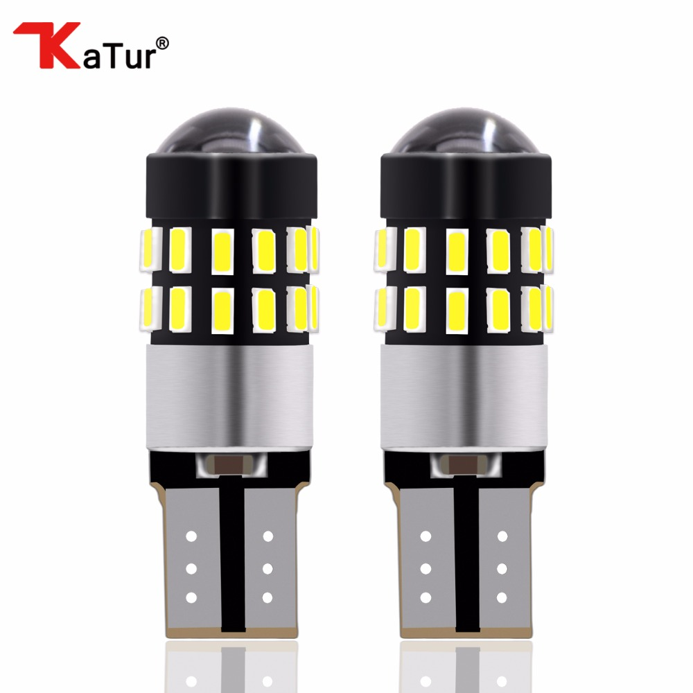 1Pack T10 194 2825 168 W5W 3014 30SMD Led Automotivo T10 Clearance lights CANBUS No Error With Lens For 12V 24V Xenon White 2 x t10 led canbus w5w 194 interior xenon white led canbus no obc error t10 10smd 5630 5730 with lens projector aluminum