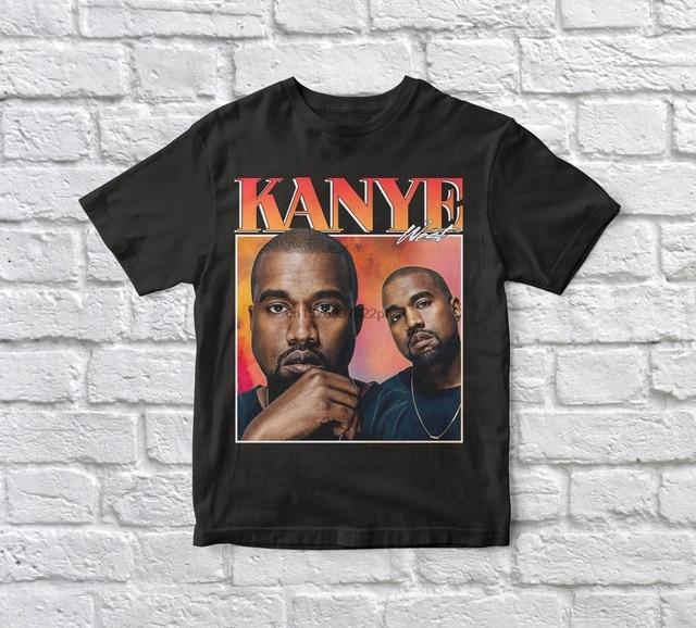 Kanye West 90s Vintage Unisex Black Tshirt  1