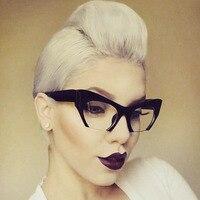 Fashion Brand Designer Cat Eye Sunglasses Women Half Rim Sun Glasses Half Frame Gradient Lens Women