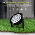 Miboxerfusutc01/fusc02/FUTC03 9 Вт 15 Вт RGB + CCT газон свет IP65 Водонепроницаемый DC24V AC110V 220 в наружное садовое освещение B8 2 4G пульт дистанционного управления