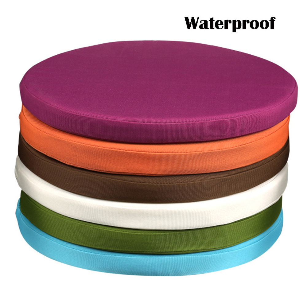 2  Purple with beige piping Waterproof Garden Cushions Filled with Pads.