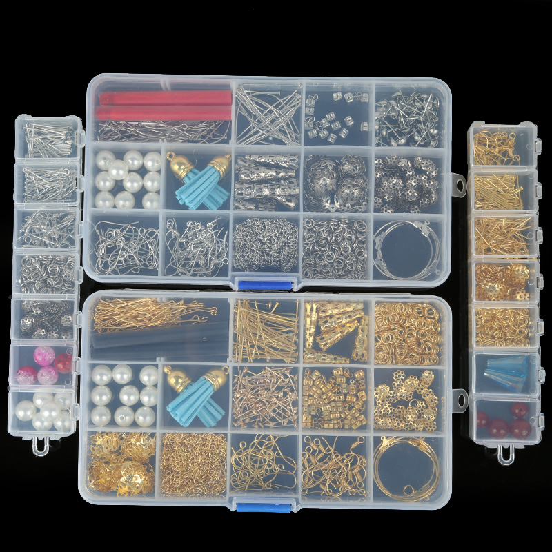 Findings-Material Jewelry-Supplies Diy Earring Earring-Hook/beads for Tassel-pendant/Jump-rings/pins-box-sets