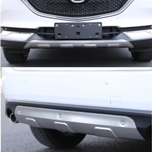 KOUVI 304 Stainless steel Front and Rear Bumper Protector Plate Sill Guard for Mazda CX-5 CX5 KF 2017 2018