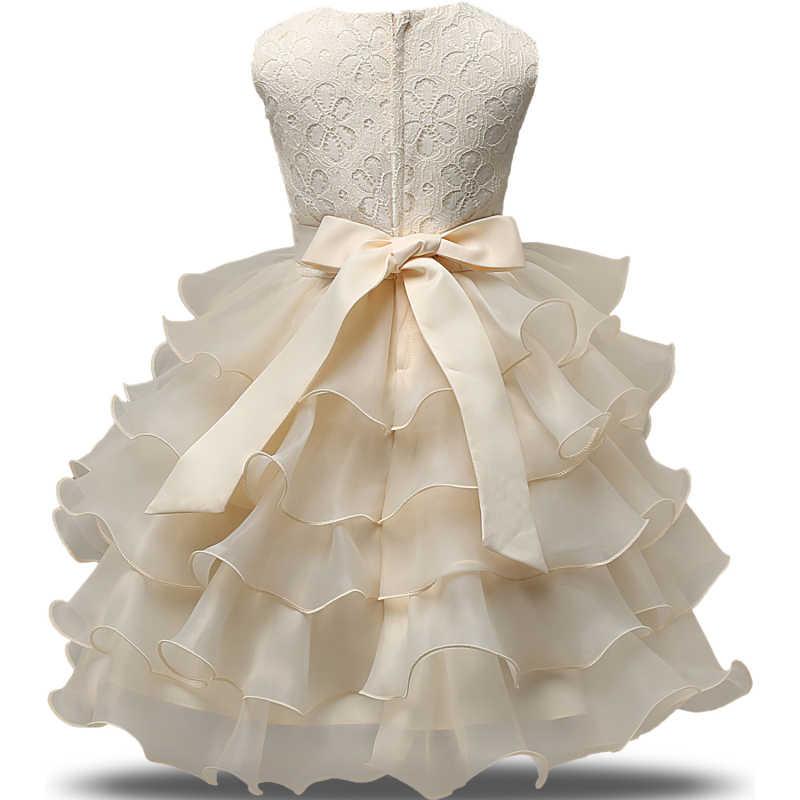 5fb9a64cf ... Летние Платья с цветочным узором для девочек, фатиновые Детские пышные  платья на крестины, выпускной ...