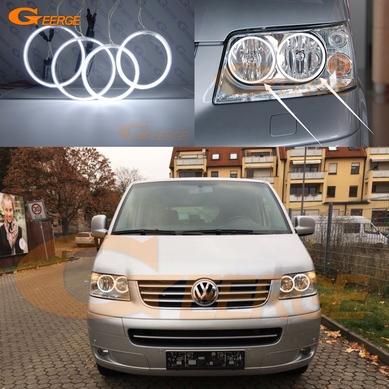For Volkswagen VW Transporter Caravelle T5 2003-2009 Excellent Ultra bright illumination CCFL Angel Eyes kit Halo Ring