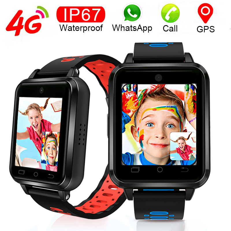 Beautiful Kids Student Child Present Gift 4G Android 6.0 APP IP67 Waterproof Swim GPS Video Call Smart Watch Smartwatch Adult 8G image