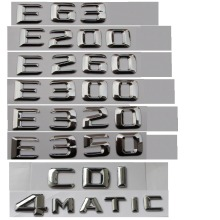 ABS Plastic Car Trunk Rear Letters Badge Emblem Decal Sticker for Mercedes Benz E Class E350