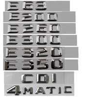 Chrome bagażnik samochodowy list godło odznaka emblematy dla Mercedes Benz E43 E55 E63 AMG E200 E250 E300 E320 E350 E400 E180 4MATIC CDI