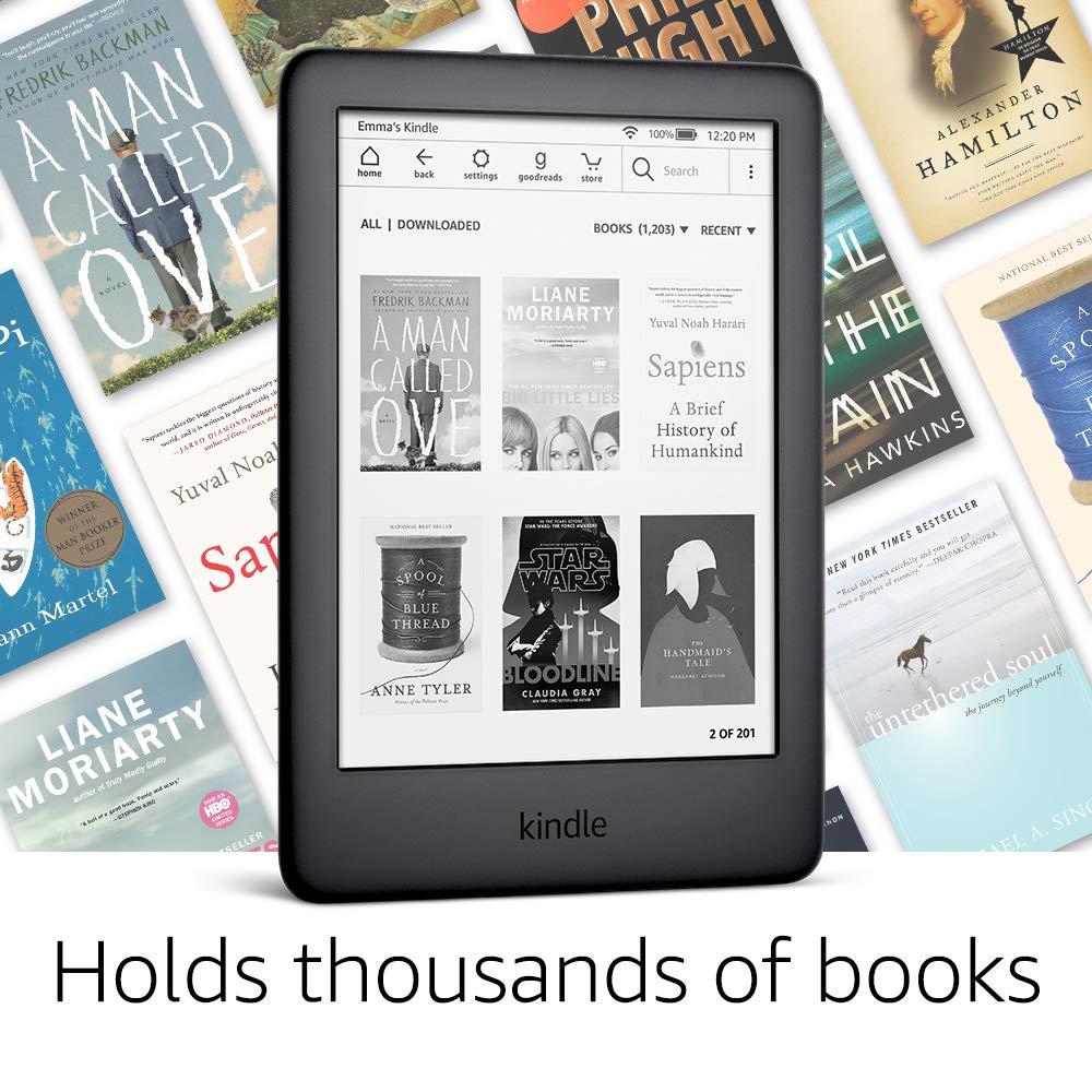 Toute nouvelle version Kindle Black 2019, maintenant avec une lumière frontale intégrée, Wi-Fi 4 GB eBook e-ink écran 6 pouces lecteurs de livres électroniques - 5