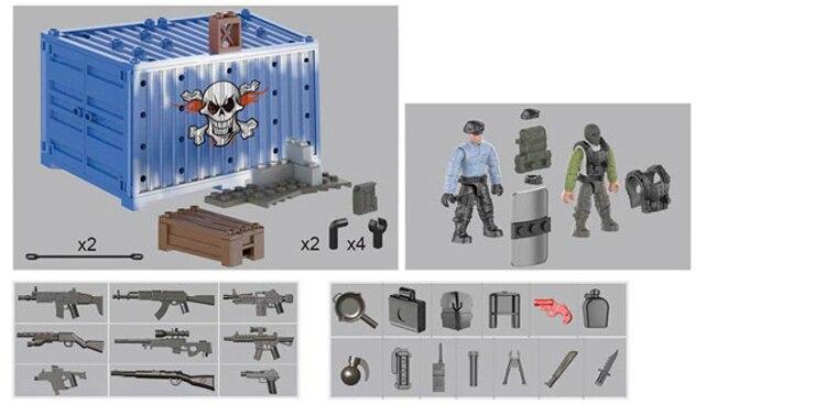 6pcs//set Military Modern Battlefield Building Blocks Models Bricks Figure Toys