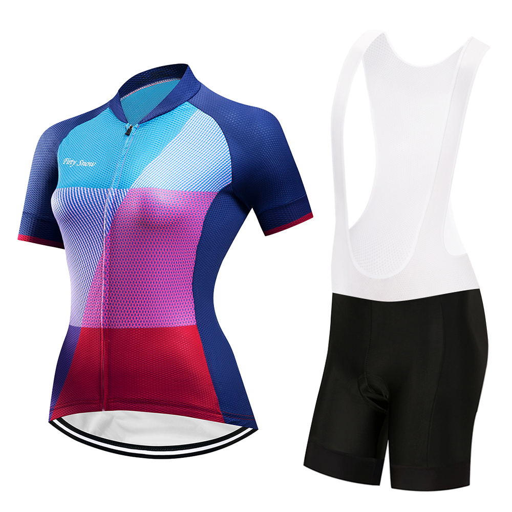 2018 Summer Female Mini Skirt + Shirt Ropa Ciclismo Cycling Jersey Sets Breathable MTB Bike Clothing Short sleeve clothes
