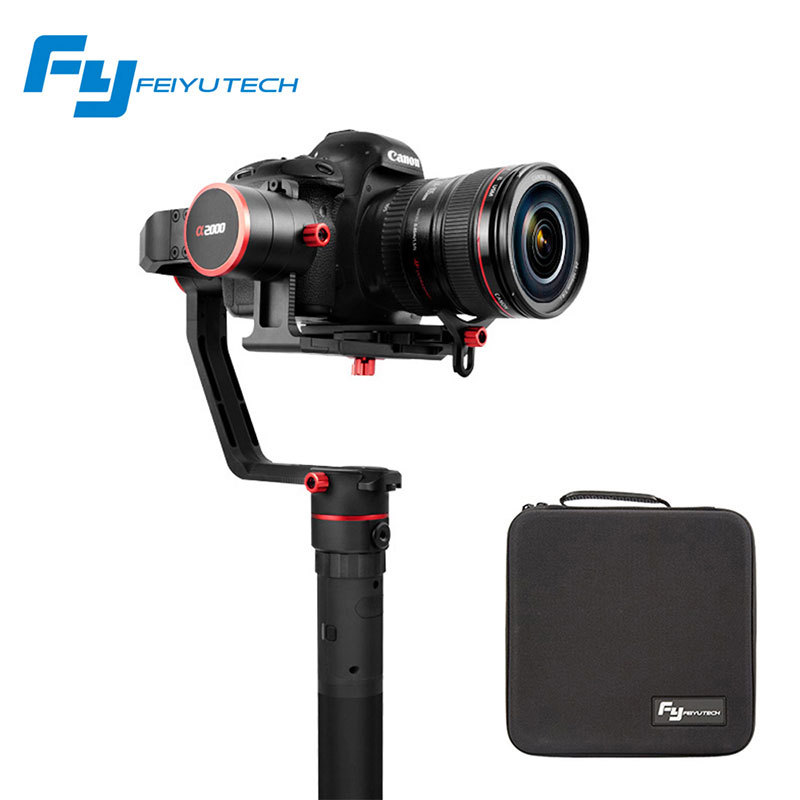 <font><b>Feiyutech</b></font> A2000 3 Axis Gimbal DSLR Cameras Stabilizer Single Dual handheld Grip for Canon 5D SONY Panasonic estabilizador image