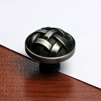 Vintage Style Furniture Handles Brushed Antique Iron Drawer Cabinet Knob Pull Stain Antique Silver Dresser Cupboard