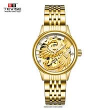 New TEVISE Women Watches Perspective Luminous Automatic Mechanical Ladies Watches Automatic Self-Wind Diamond Female Dress Watch цена