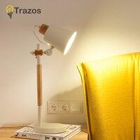 Современная лампа Светодиодная Регулируемая Nordic простой креативный деревянные настольные лампы для спальни офисная лампа настольная ламп