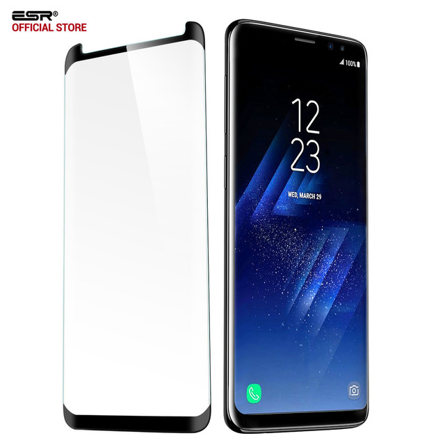 quality design 42787 ba815 US $4.75 44% OFF|ESR Screen Protector for Samsung Galaxy S9 Plus Tempered  Glass 3X Stronger 3D Curved Protector for Samsung S9 Glass Film-in Phone ...
