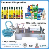 Pneumatic Piston Liquid Filler Shampoo Gel Water Wine Milk Juice Vinegar Coffee Oil Drink Detergent Filling