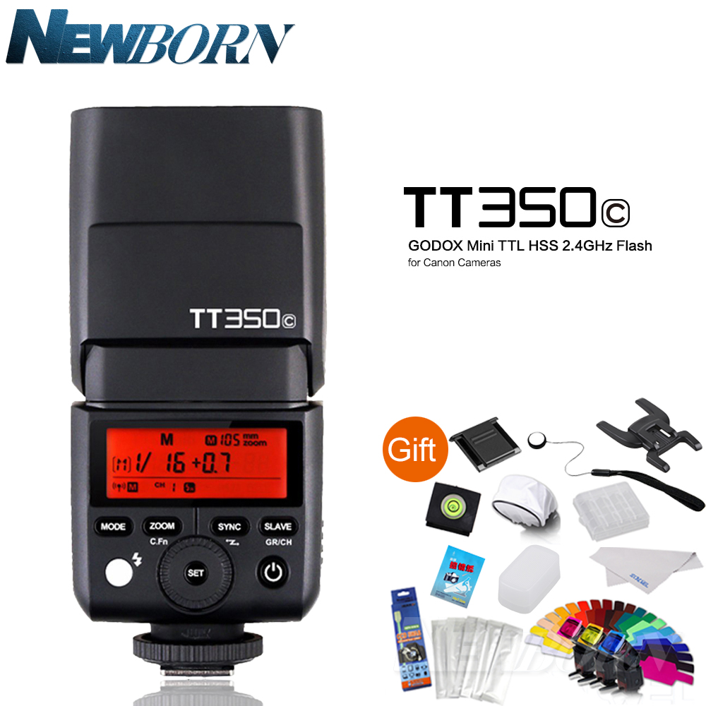 GODOX TT350C Mini Flash Speedlite 2.4G TTL GN36 for Canon 5D Mark III/IV 80D 70D 7D 6D 760D 750D 700D 60D 600D 7D 6D 5DIV kimocat boy and girl high quality spring autumn children s cowboy suit version of the big boy cherry embroidery jeans two suits