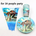 42pcs\lot Kids Favors Banners Baby Shower Plates Decorations Moana Paper Dishes Happy Birthday Party Cups Supplies Tableware