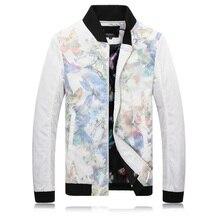 2016 новый зимний высокое качество wram цветы печатных пальто мужчины, зимняя куртка мужчины, размер M, L, XL, XXL, XXXL, 4XL