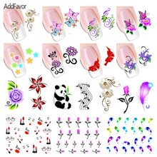 2 Pcs Floral Nail Stickers