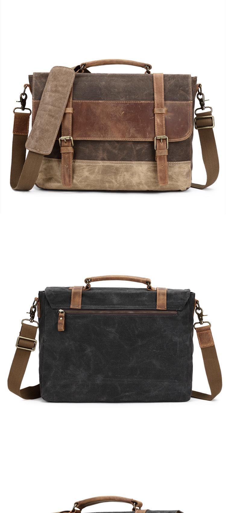 eiken briefcase for men coffee variant