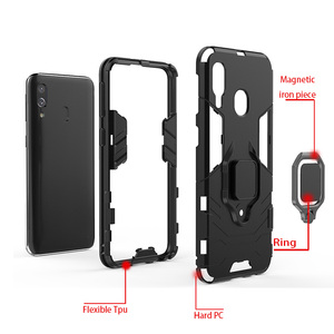 Image 5 - Armor Ring Case For huawei Y7 2019 case Magnetic Car Hold Shockproof Soft Bumper Back Phone Cover For huawei Y7 2019 case