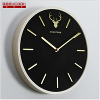 Geekcook New Wall Clocks Large Clock Wall Activated Carbon Wooden Wall Clock Simple Nordic Creative Home Decoration Activated