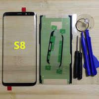 Para Samsung Galaxy S8 G950 G950F teléfono Original frente exterior Panel de vidrio para Samsung S8 más G955 G955F pantalla táctil reemplazo