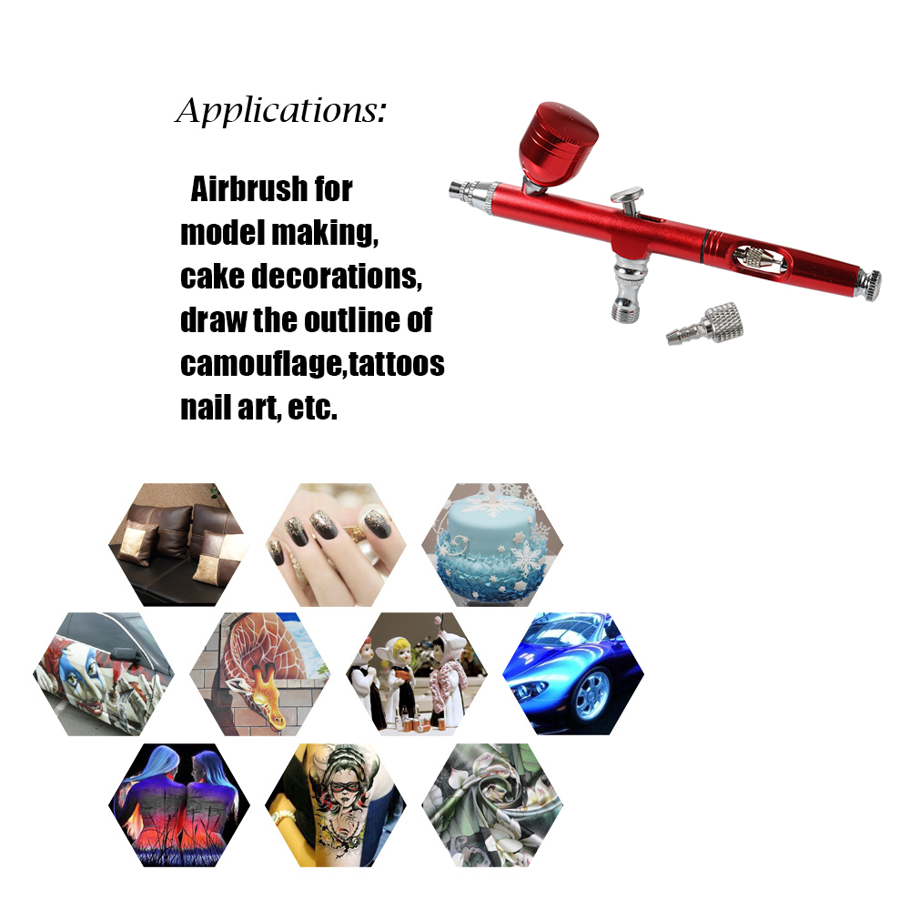Image 3 - 1PC Mini Spray Pump Pen Set Air Compressor Kit for Art Painting Tattoo Craft Cake Spray Model Beautiful Airbrush Kit-in Spray Guns from Tools on