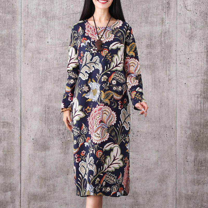 5ad95a78243c6 Hot Sale Elegant Maternity Clothes Spring Pregnant Woman Dress Ethnic  Vintage Maternity Clothing Long Sleeve Floral Casual Dress