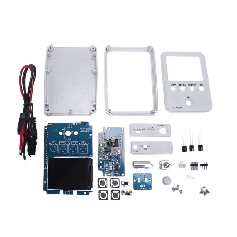 Tech Dso150 15001K Diy Diy Digital Oscilloscope Unassembled Kit With Housing Original Dso-Shell