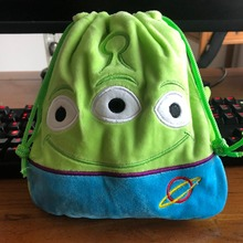 cool 1PCS Toy Story Aliens Kumamon Cartoon Drawstring Bags Cute Plush storage handbags makeup bag Coin Bundle Pocket Purse NEW