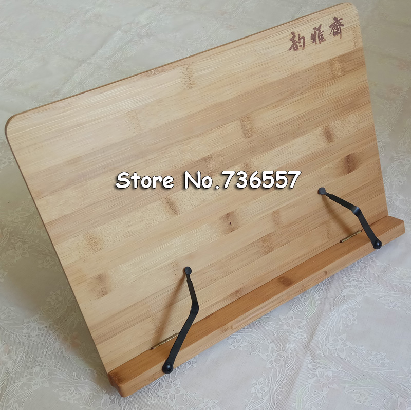 Bamboo book stand reading bamboo Large Medium Small rack zitie rack bookend reading frame new arrival reading literacy for adolescents