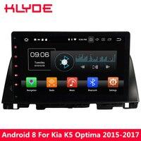 KLYDE 10,1 ''ips Octa Core 4 ГБ Оперативная память Android 8,0 32 ГБ Встроенная память PX5 4 г DVD мультимедиа плеер радио для Kia K5 Optima 2015 2016 2017