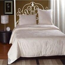 Natural winter Silk quilt Good warm subtle soft cotton blanket white silk quilts 160 * 210cm 1000g for wedding gifts