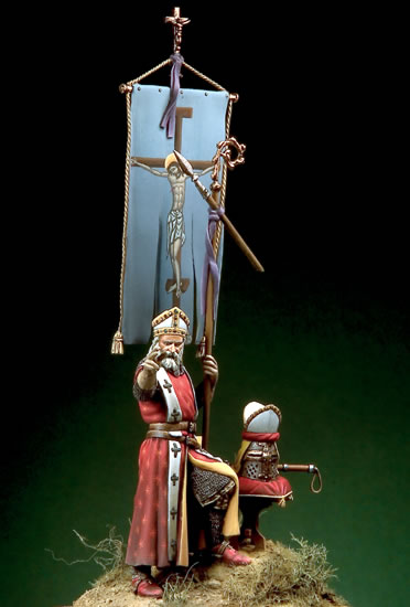 Assembly  Unpainted  Scale 1/32 54mm  Bishop Warrior  Century 54mm  Figure Historical  Resin Model