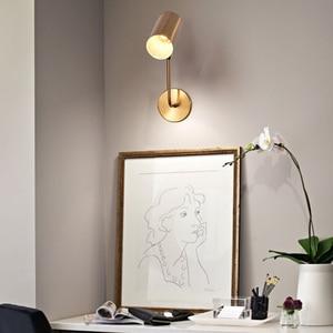 Image 4 - مصباح حائطي قابل للتعديل من الحديد باللون الأسود والذهبي للشخصية الإبداعية الحديثة الحد الأدنى لغرفة المعيشة وغرفة النوم والدراسة في الممر بجانب السرير