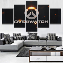 Wall Art Home Decor Framework Canvas Pictures 5 Pieces Game Overwatch Logo Paintings For Living Room HD Prints Modular Posters