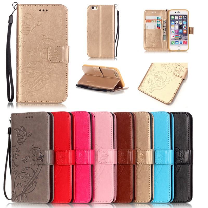 Za iphone 7 7plus Case TPU Kožna stražnja korica Leptir Flip - Oprema i rezervni dijelovi za mobitele