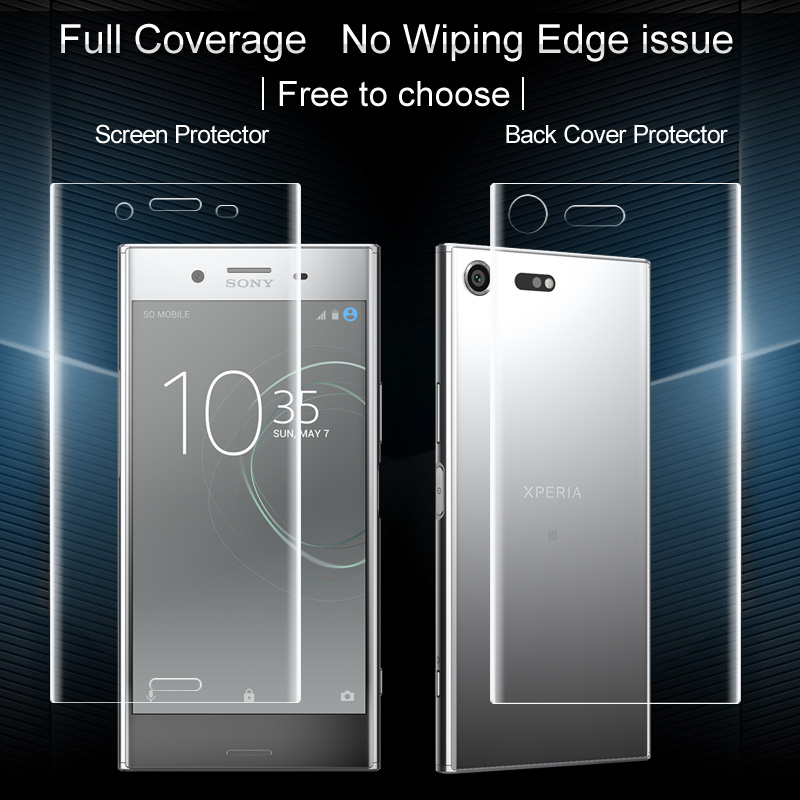 online store 2734c bb310 US $4.74 5% OFF|Imak Hydrogel Film for Sony Xperia XZ Premium Film Clear  Back Cover Protector 0.15mm Thickness Front Cover Film 2pcs Package-in  Phone ...