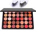 DE'LANCI 35 Цветов Shimmer Матовый тени для век Профессиональный Макияж Палитра Теней С Норки Накладные Ресницы Подарок для Женщин