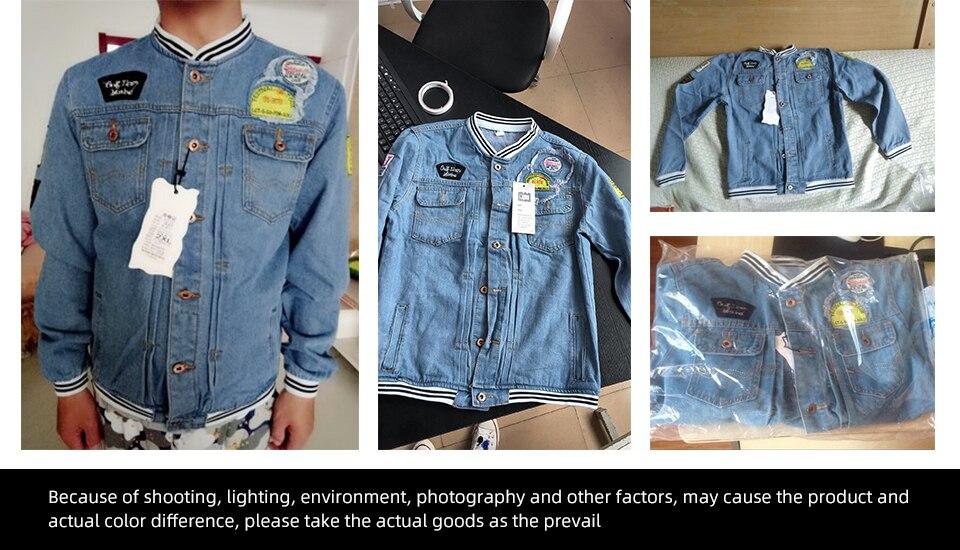 Spring Trend Casual Loose Jacket Men's Denim Jackets Slim Fit 2019 New Men Fashion Cool Stand Collar Plus Size Pilot Coat Zipper