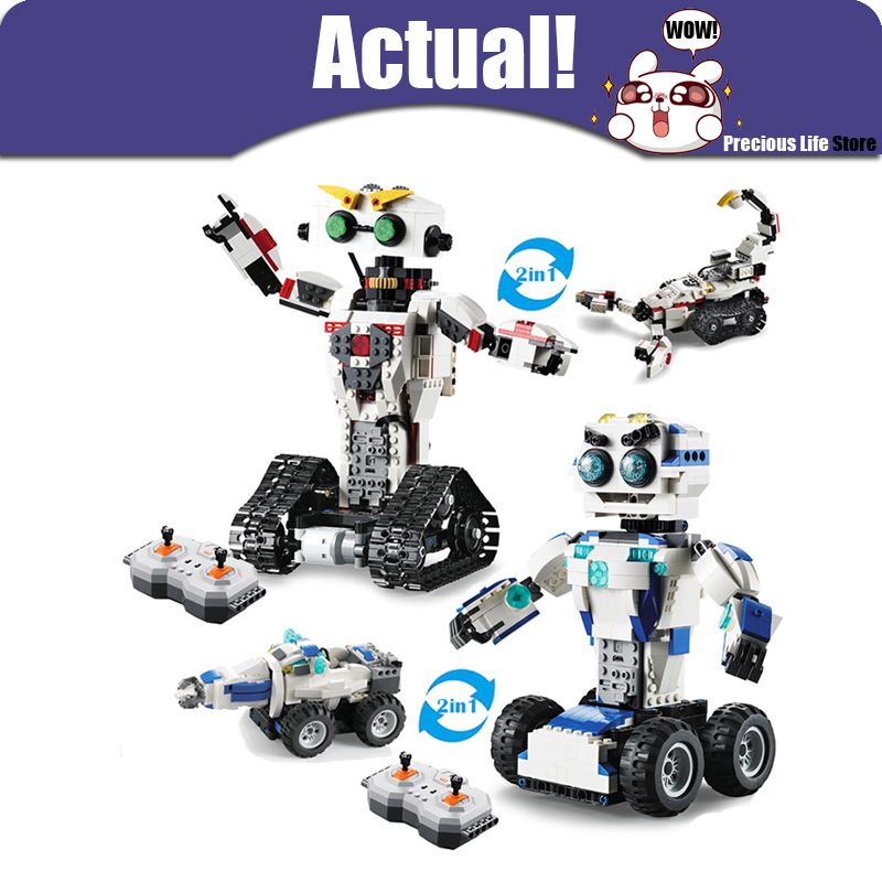 Technic Space Robot Remote Control 2in1 Creator Building Blocks Bricks DIY Toys Enlighten For Children Compatible with INGlyTechnic Space Robot Remote Control 2in1 Creator Building Blocks Bricks DIY Toys Enlighten For Children Compatible with INGly