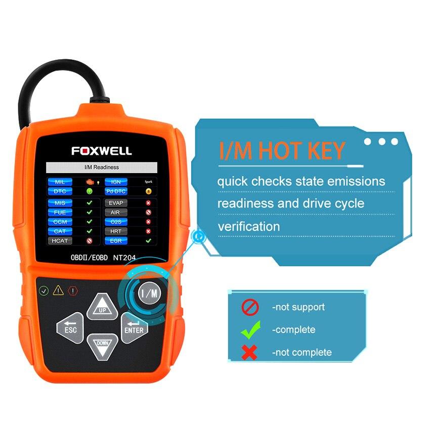 FOXWELL NT201 Leer Errores Del Motor Del Coche OBD2 Código Del ...