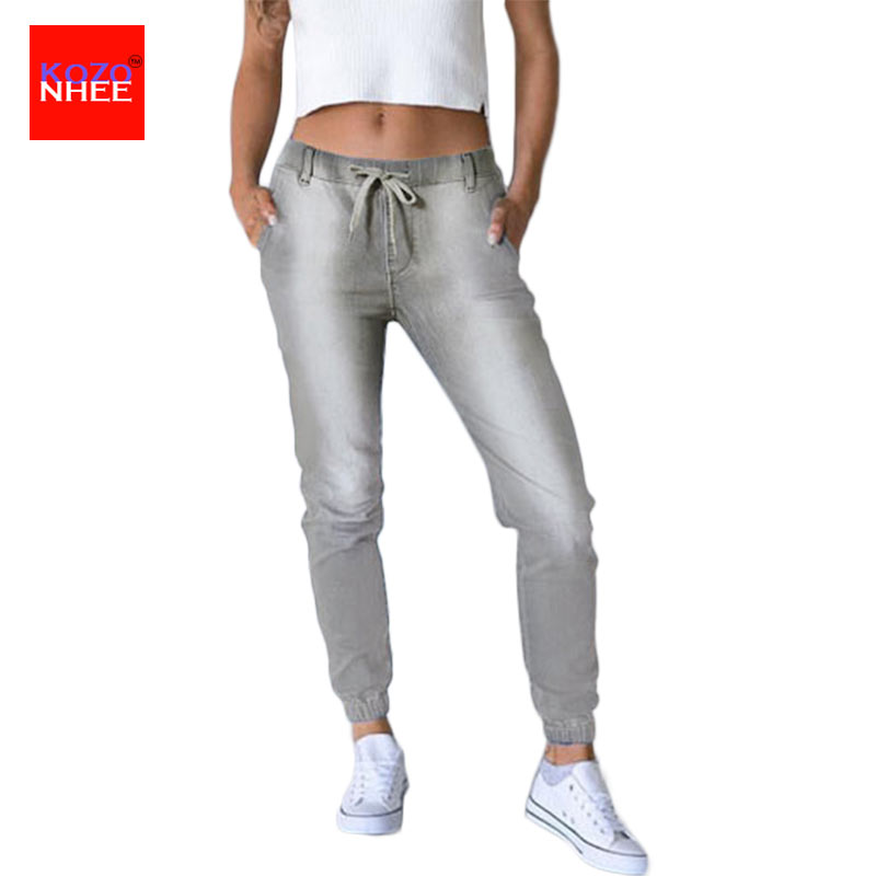 Loose Stretch Harem Jeans With Elastic Waist Woman Elasticity Harem Jeans Trousers For Women Pants Large Size loose stretch harem jeans with elastic waist woman elasticity harem jeans trousers for women pants large size