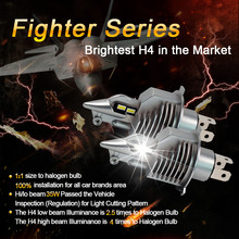 1 Set H4 HB2 9003 CSP CHIP WX-H4 Car LED Headlight Fighting 1:1 Bulb Size Halo-gen Lamp Perfect Pattern High/Low Beam 35W 5800lm